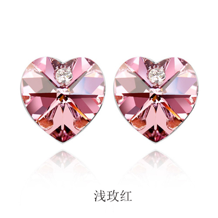 Fashion OL alloy plating Earrings (Water lotus red 4551)NHLJ3358-Water lotus red 4551