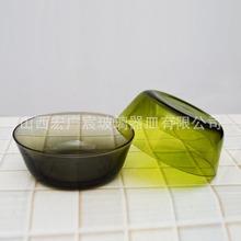 玻璃厂家专业定制彩色玻璃碗水果沙拉碗新款炫彩沙拉碗礼品促销