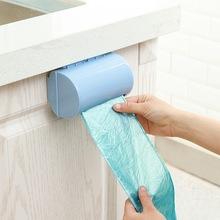 塑料袋收納盒大容量家用廚房用品塑料收納盒壁掛抽取垃圾袋收納盒