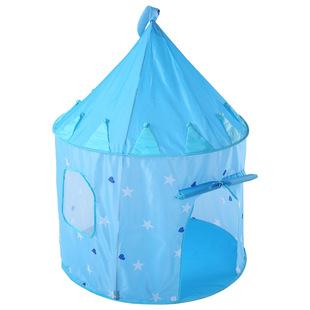 跨境儿童帐篷星星蓝色玩具游戏屋蒙古包室内小孩卡通公主蚊帐
