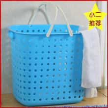 【单篮】脏衣服收纳洗衣篮塑料杂物编织收纳篮大号脏衣污衣收纳篮