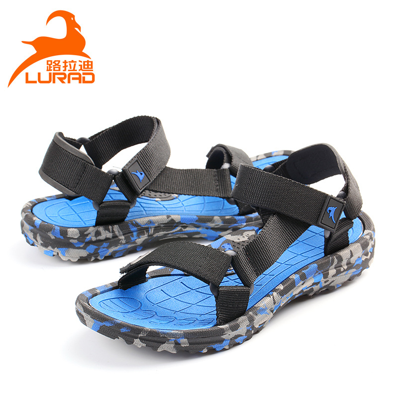 ffcc5909ee3b2 2019 new camouflage men's sandals summer casual beach shoes set feet sandals  and slippers breathable men's