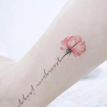 韩国原宿个性防水纹身贴纸玫瑰猫咪字母小清新纹身贴定制现货批发
