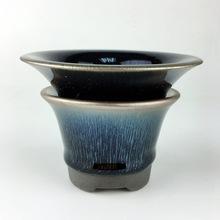 陶瓷工艺品功夫茶具套装 特色蓝兔毫建盏套装 窑变建阳建盏铁胎