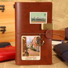 厂家定制批发创意绑带旅行本 复古手账本 学生日记本 随身笔记本