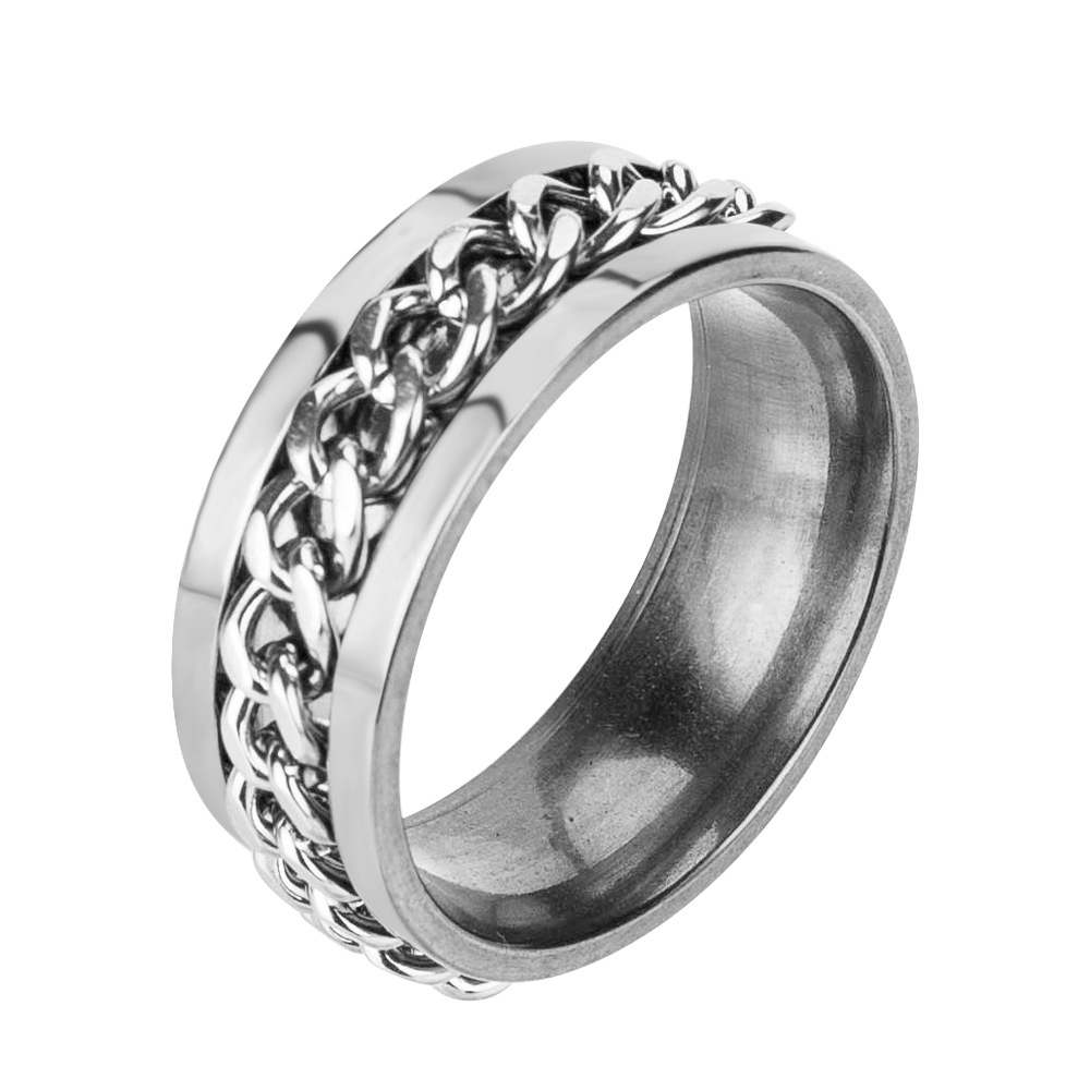 Occident and the United States stainless steelRing (Silver-21 (2.1cm))NHJE0492-Silver-21 (2.1cm)