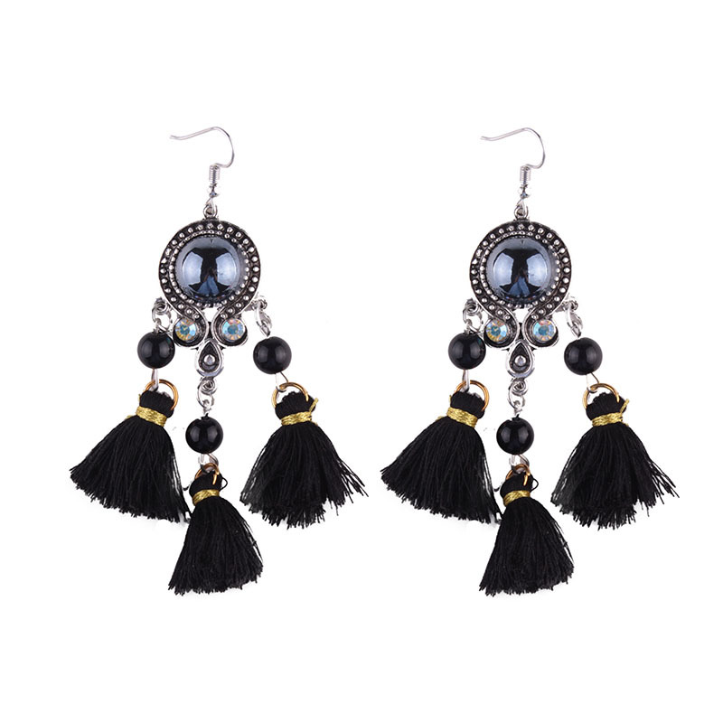 Exotic alloy hand made earring (color)NHJQ9248-color