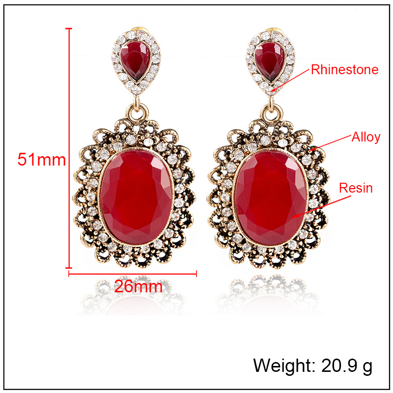 Fashion Alloy plating earring Geometric (Alloy red)  NHKQ1430-Alloy red