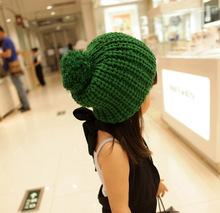 冰島毛兒童帽子糖果色球球帽兒童毛線帽親子毛線帽子批發定制