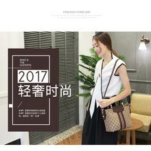 2017新款时尚个性百搭复古大气手提包帆布包单肩斜挎包大包包女包