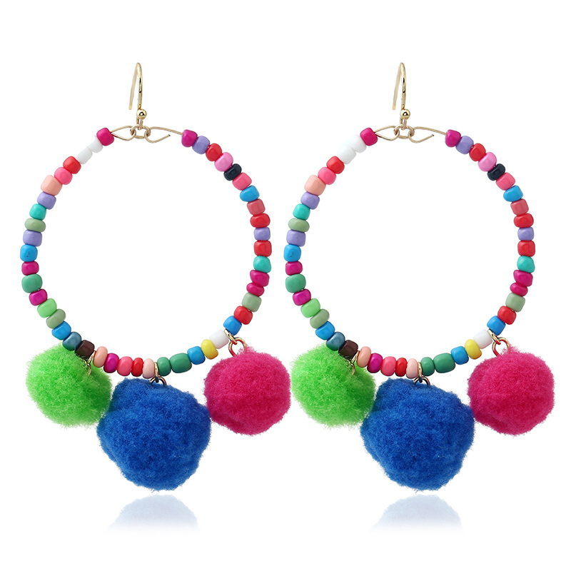 Occident and the United States alloy Handmade earring (Mixed color)NHNNZ3006-Mixed color