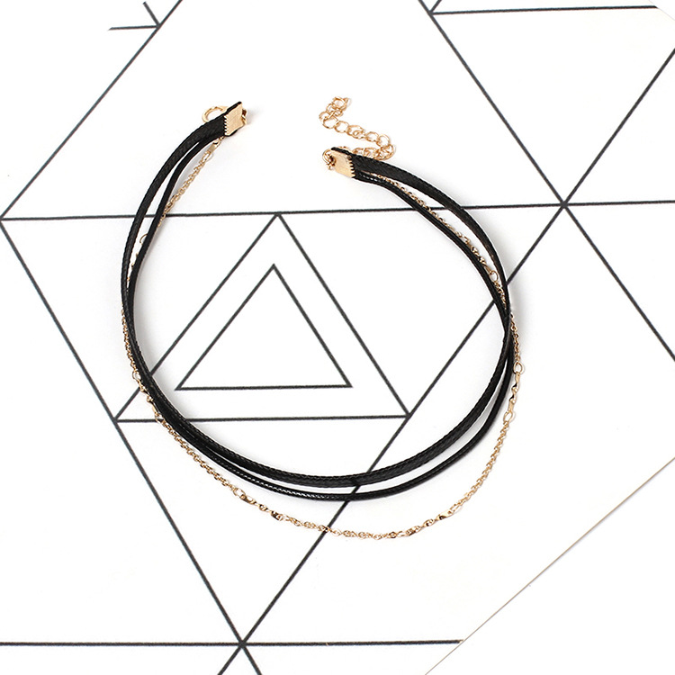 simple multilayer necklace NHRN309314