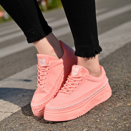 Spring and autumn flat white canvas shoes women's thick-soled lace white shoes student shoes casual shoes tide women's shoes