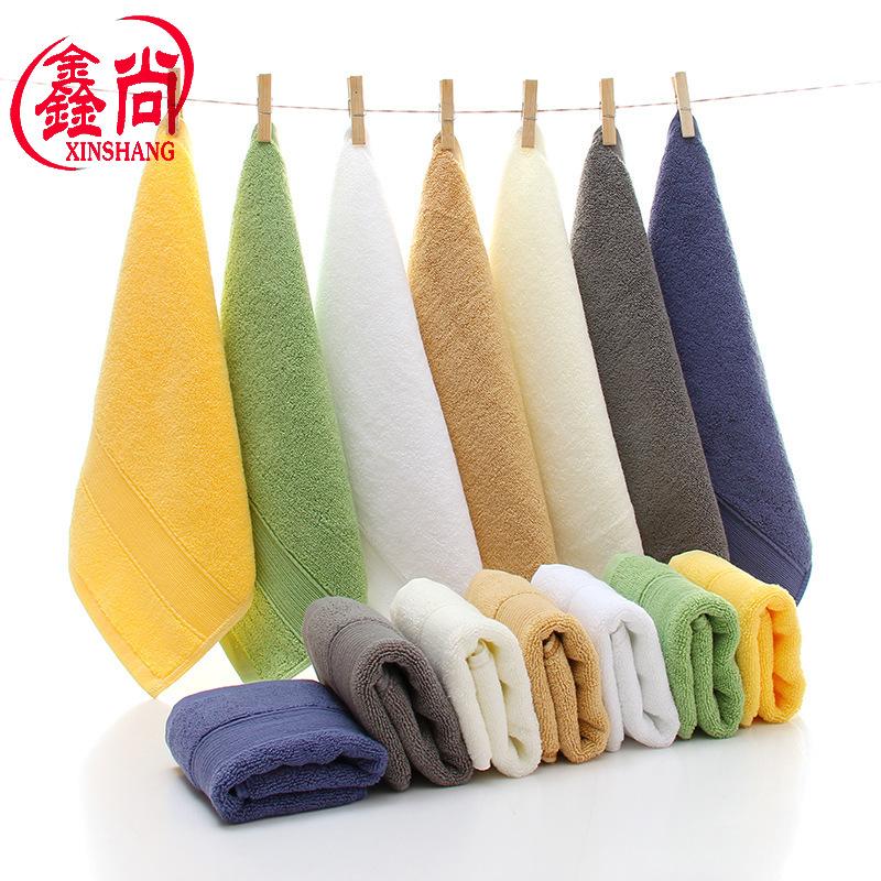厂家批发七色加厚纯棉宝宝方巾80g精梳全棉儿童洗脸小毛巾口水巾