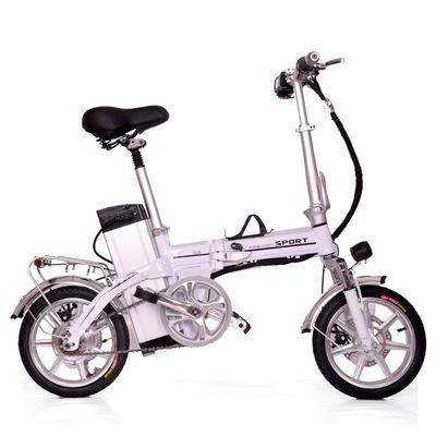 14寸折叠式电动代驾宝自行车48V成人便携锂电池代步车厂家直销