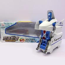 儿童电动万向变形列车玩具金刚 2合1循环变形火车批发直销SX804