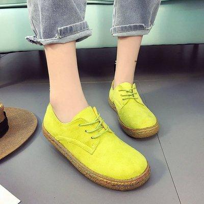 2017新款单鞋女欧美新款低帮系带休闲鞋磨砂平跟鞋学生鞋外贸批发