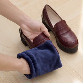 Flannel shoes cleaning gloves soft wool shoeshine leather shoes brushing tools plush shoes brush 15g