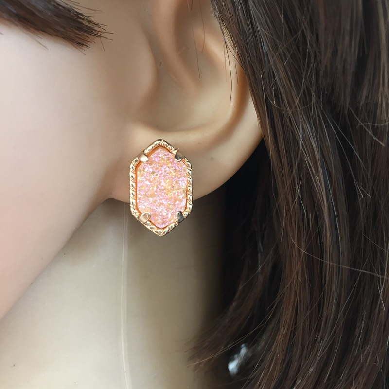 Copper Fashion  earring  (yellow) NHOM0169-yellow
