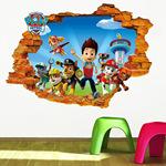 新款儿童房卡通卧室电视背景墙贴纸外贸批发防水可移除贴画壁画