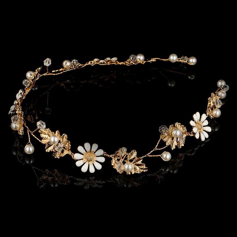 Beads Fashion Flowers Hair accessories  Alloy NHHS0371Alloy