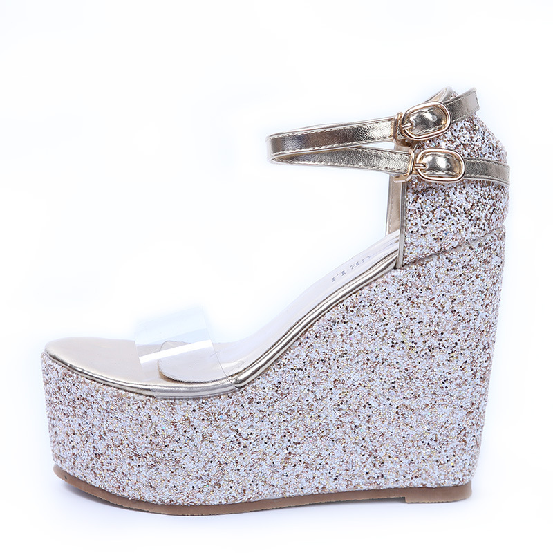 Ankle strap, Wedge shoes for young girls's main photo