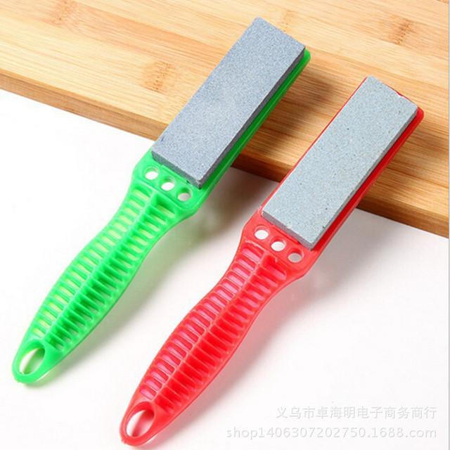 火爆地摊产品 多功能双面磨刀刷 新型快速磨刀刷批发  磨刀石