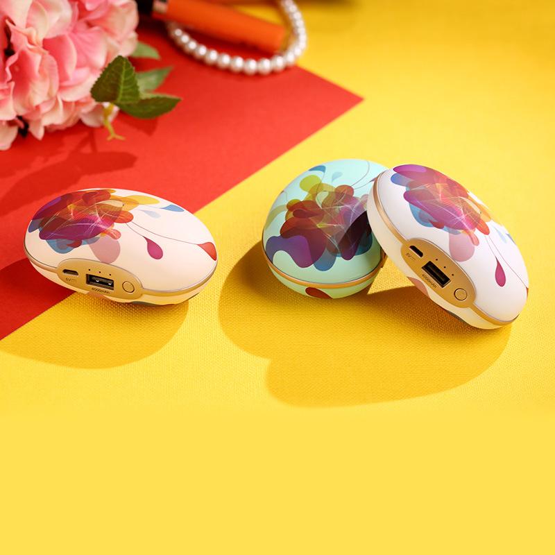 可爱迷你小豌豆USB震动暖手宝充电宝 防爆暖手宝电热饼便携电暖宝