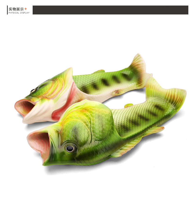 a9f1cf61bd61b Creative Fashion Lifelike Fish Funny Slippers Flat Sandals Leisure ...