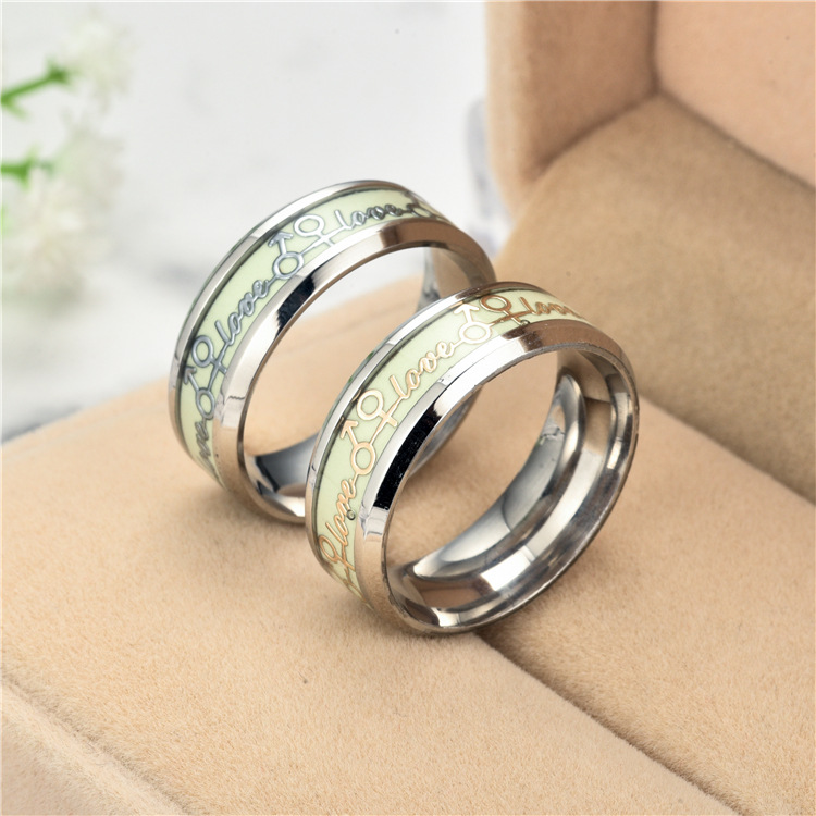 Titanium&Stainless Steel Fashion Geometric Ring  (8MM alloy bottom alloy plate-6) NHTP0043-8MM-alloy-bottom-alloy-plate-6