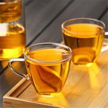 高档耐热高硼硅花茶杯手工吹制玻璃小水杯150ml品名茶杯