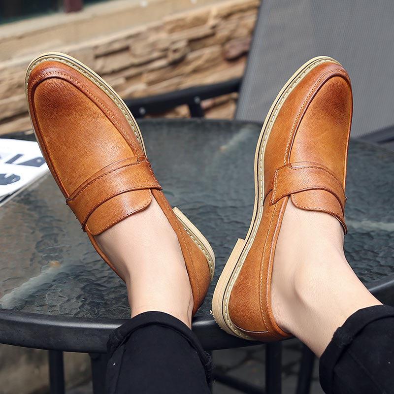 春季新款男士皮鞋正装绅士鞋商务休闲鞋男温州鞋子批发一件代发