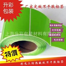 艾利染色 彩色三防热敏纸不干胶标签 条码纸 50*30绿色