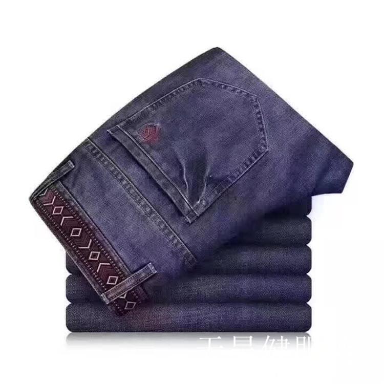 冬季牛仔裤男式牛仔裤秋冬牛仔裤男长裤小脚休闲牛仔裤男式直筒
