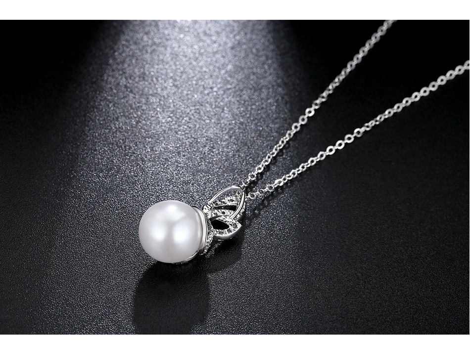 Alloy Fashion Geometric necklace  (White-T10D19) NHTM0464-White-T10D19