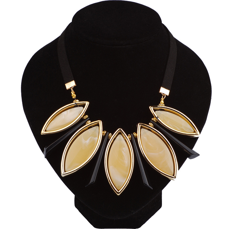 Occident and the United States Resinnecklace (Beige)NHQQ0267-Beige
