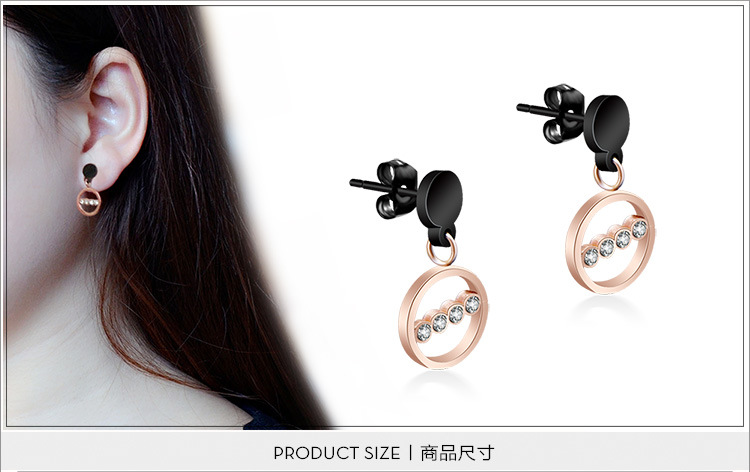 Titanium&Stainless Steel Fashion Geometric earring(Rose gold) NHOK0201-Rose-gold