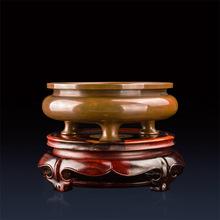 纯紫铜香炉 王世襄鬲式三足炉同款 宣德炉 薰香炉