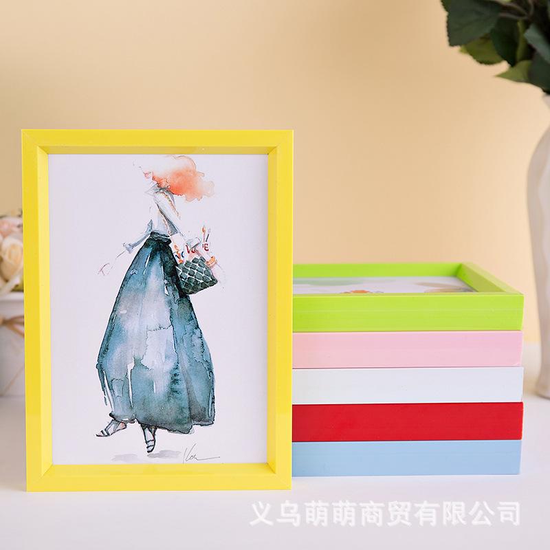 创意PVC照片墙摆台组合画框塑料相框定制批发6寸7寸a3a4一件代发