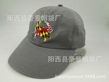工厂制造 批发便宜 ?#27492;?#20840;棉棒球帽 六分金属扣鸭舌帽 高质量绣花
