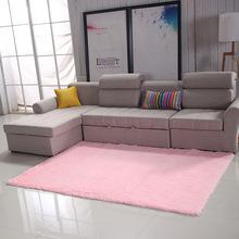 批發PV絨短毛絲毛客廳臥室床邊地毯榻榻米地墊定制北歐純色地毯