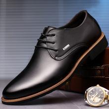 2018春季品牌单鞋商务正装男鞋男士休闲皮鞋软底真皮男单鞋鞋子