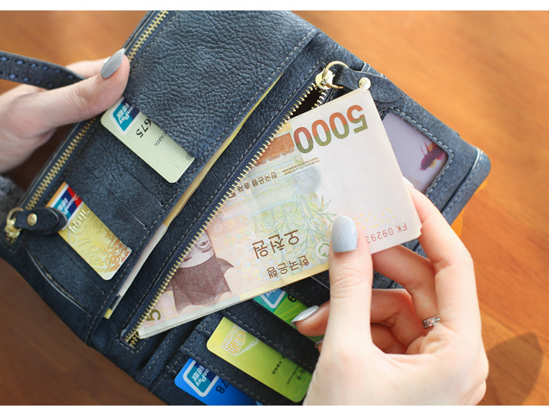 Korean version of the hollow lace multifunction large capacity long wallet NHNI144149