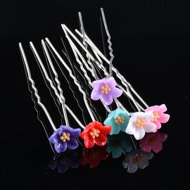 Flower pin headdress hairpin