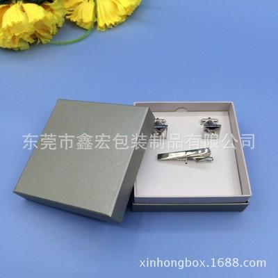 广州厂家供应高档袖扣盒 环保纸质领带夹子盒 首饰包装盒定制