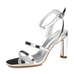 Harmony Mirror Silver Leather Sandals