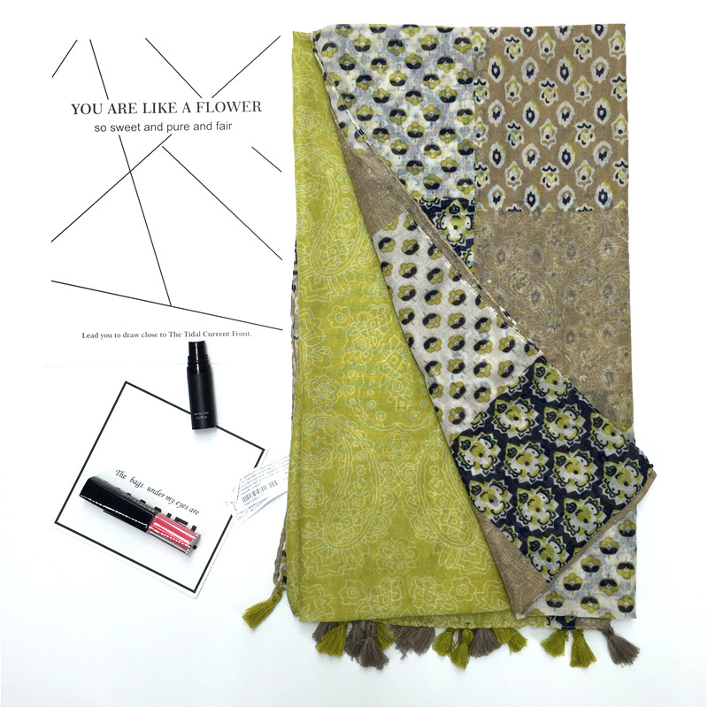 Fashion mixed color scarf cotton wholesales fashion NHGD182176