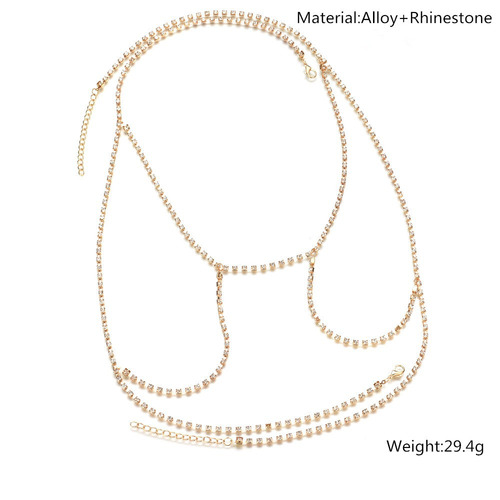 Occident and the United States alloy Diamond Body chain (Gold)NHBQ0986-Gold