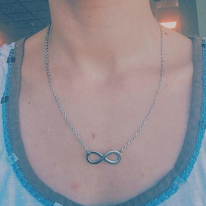 Simple character pendant necklace clavicle chain wholesale NHCU206494