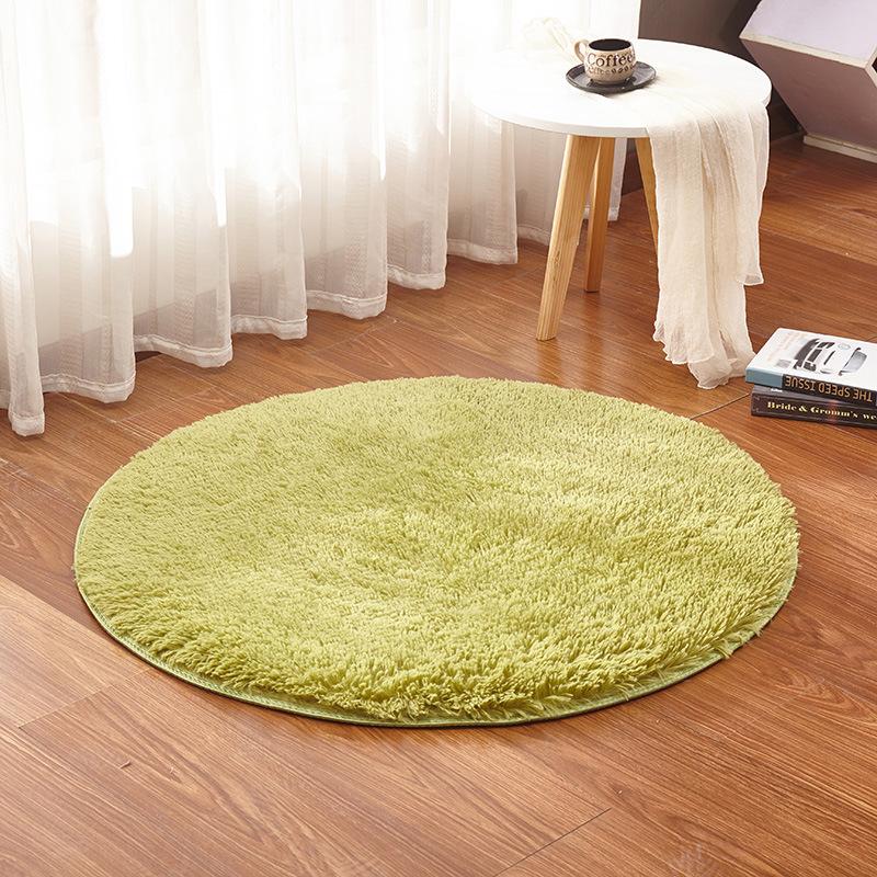 厂家批发丝毛绒圆形地垫 客厅卧室地毯吊篮脚垫电脑椅垫瑜伽垫